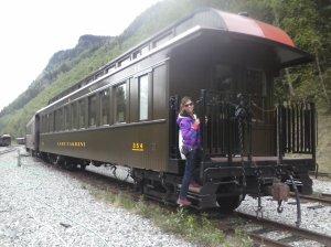 Um passeio de trem